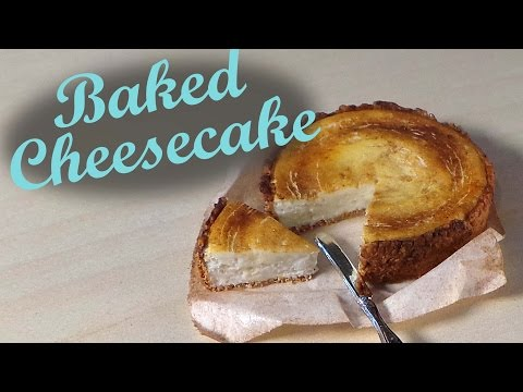 Polymer Clay Baked Cheesecake – Miniature Food Tutorial