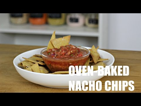 Fast Food Friday: Vegan Homemade Baked Nacho Chips & Fresh Salsa | Sim's Kitchenette Episode 83