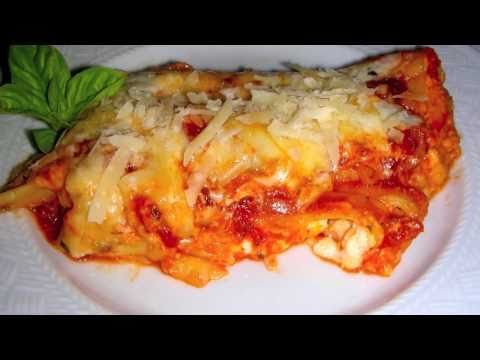 Manicotti Recipe – Italian Food – Watch how to stuff manicotti noodles by hand