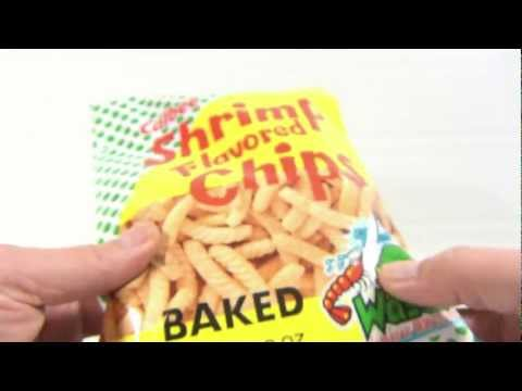 Calbee Shrimp Flavored Baked Chips with Cool Spice Wasabi  – Japanese Snack Food Tasting