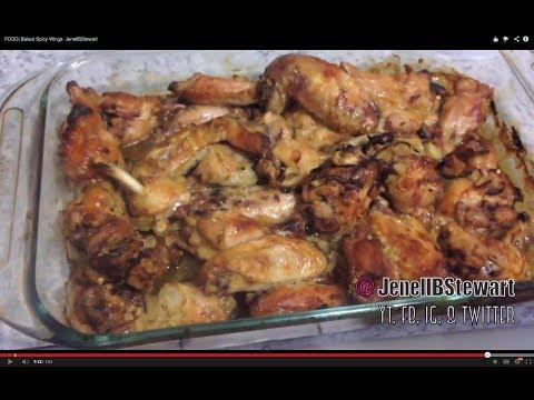 FOOD| Baked Spicy Wings- JenellBStewart