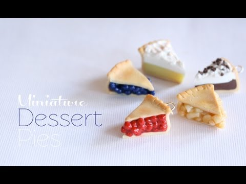 Mini Pies – Polymer Clay Dessert Tutorial