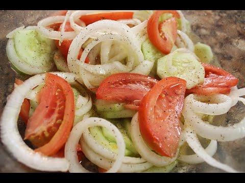 Cucumber, Onion & Tomato Salad Recipe