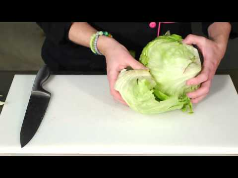 How to Cut Iceberg Lettuce for a Salad : Salad Recipes