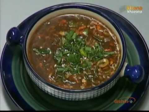 Hot & Sour Vegetable Soup – Sanjeev Kapoor – Khana Khazana