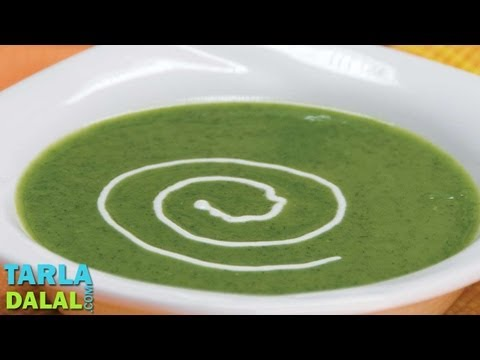 Cream of Spinach Soup by Tarla Dalal