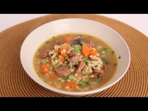 Beef & Barley Soup Recipe – Laura Vitale – Laura in the Kitchen Episode 523