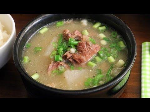 Ox bone soup (Seolleongtang: 설렁탕)
