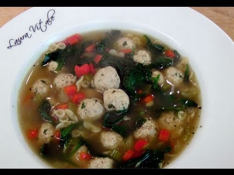 How to make Italian Wedding Soup – Recipe by Laura Vitale – Laura in the Kitchen Ep. 105