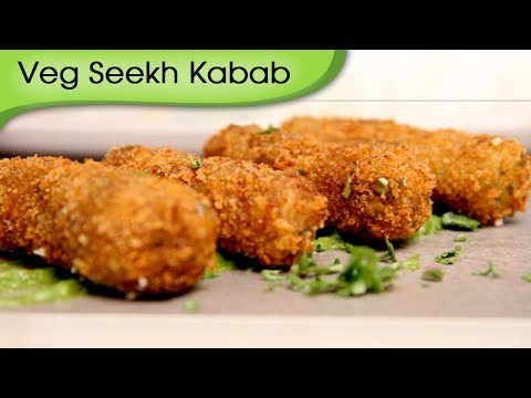 Veg Seekh Kebab – Quick Crispy Snacks – Appetizer / Starter Recipe by Ruchi Bharani [HD]