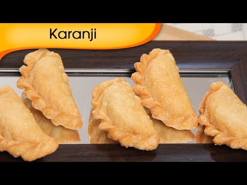 Karanji – Gugra / Gujiya – Sweet Snacks Recipe – Crispy Sweet Dish Recipe by Ruchi Bharani [HD]
