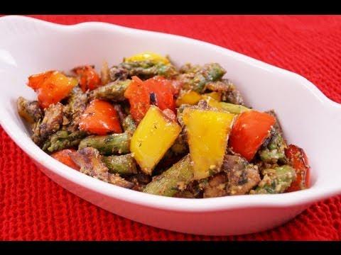 Vegetables With Basil Pesto Sauce Recipe: Easy Side Dish! Diane Kometa-Dishin' With Di Recipe  #78