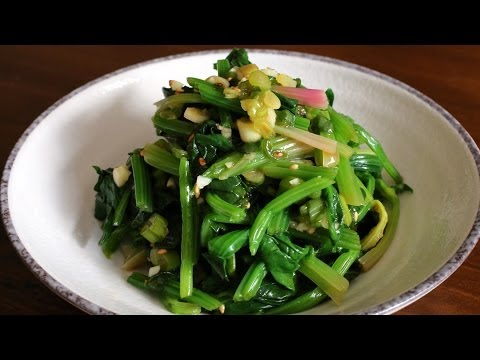 Korean spinach side dish (Sigeumchinamul:시금치나물)