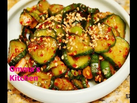 Spicy Korean Cucumber Side Dish (오이무침) OiMuChim by Omma's Kitchen