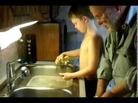 The Griswolds Dinner – Great Grampa Grizz Griswold trains Grandchildren to wash dinner dishes prt2