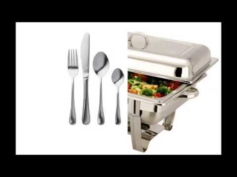 Catering Equipment Hire: chafing dishes, crockery, cutlery, glassware, etc