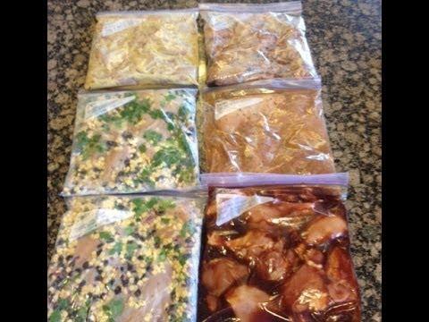 6 Chicken Crock Pot Freezer Meals