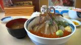 Dancing squid bowl dish in Hakodate
