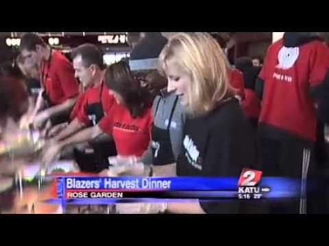 KATU helps serve up dishes at Blazers' annual Harvest Dinner