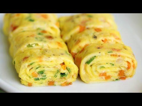 Perfect Egg Rolls Recipe 계란말이 (한글자막) Tamagoyaki Omelette