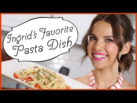 Ingrid Dishes | Favorite Tagliatelle Pasta Dish | Recipes from Missglamorazzi