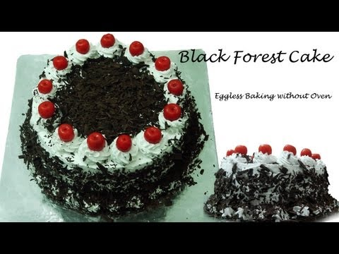 Black Forest Cake Recipe Without Oven – Cooker Cake | Eggless Baking without Oven