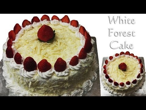 White Forest Cake – Cooker Cake, Eggless-Without Condensed Milk, Eggless Baking Without Oven