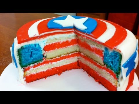 HOW TO MAKE A CAPTAIN AMERICA CAKE – NERDY NUMMIES