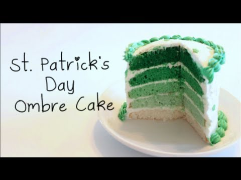 How to Make St. Patrick's Day Ombre Easy Bake Oven Cake!