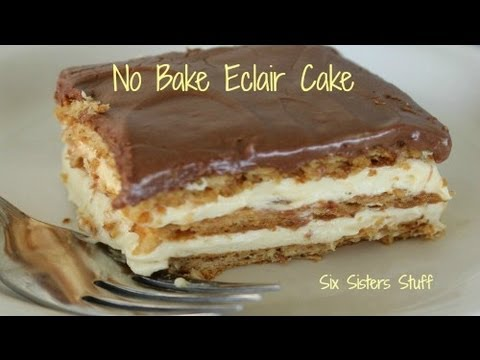 How to Make No Bake Eclair Cake | Desserts | Six Sisters Stuff