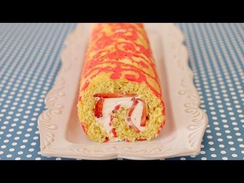 Swiss Roll Cake with Design – Gemma's Bigger Bolder Baking Ep. 17 – Gemma Stafford Recipe
