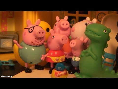 Chef Peppa Pig How To Baking Play Doh Cakes Playdough Daddy Pig Shaves Mummy Pig George Pig Dinosaur