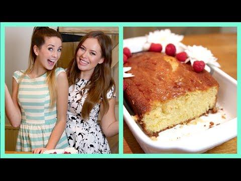 Baking Lemon Drizzle Cake With Zoella! | Tanya Burr