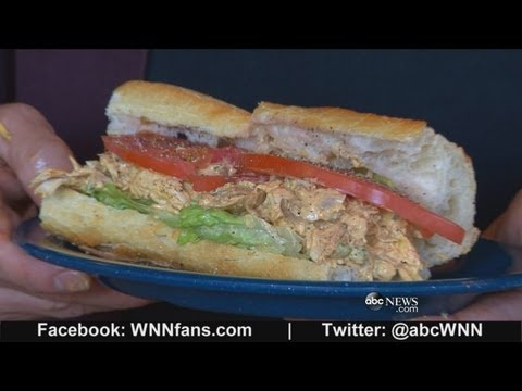 Dinosaur Bar-B-Que: Chicken Salad Sandwich