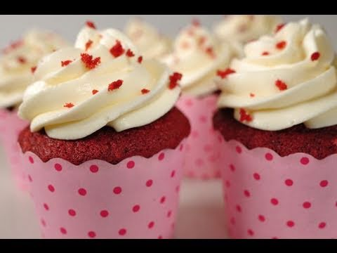 Red Velvet Cupcakes Recipe Demonstration – Joyofbaking.com