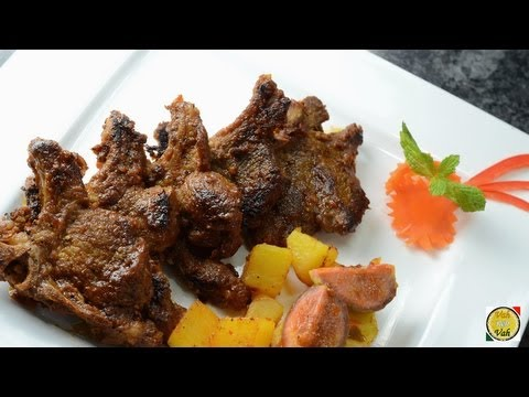 Barbecue  Flavoured Lamb  – By Vahchef @ vahrehvah.com