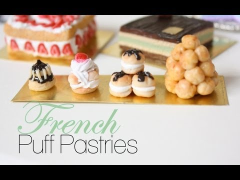 French Puff Pastries : French Pastries & Desserts Episode # 1 – Polymer Clay Tutorial