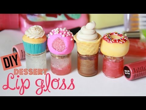 DIY Dessert Lip Gloss – How To Make Sweet Lip Gloss Jars & Bottles – Polymer Clay