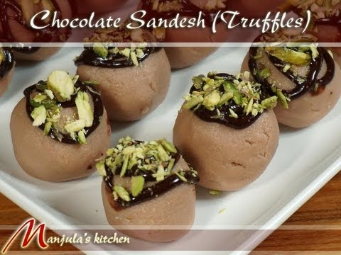 Chocolate Sandesh (Truffles) – Indian Desserts Recipe by Manjula