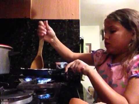 Me making dinner