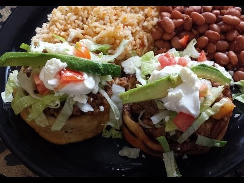 making sopes for dinner.