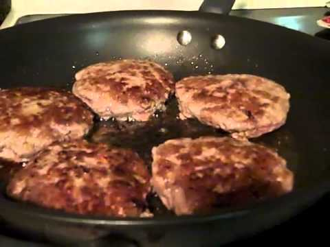 Making dinner – salisbury steak: Nov. 8, 2011