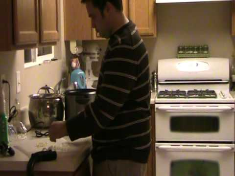 T12 Complete Paraplegic Making Dinner Standing Up in Leg Braces (Chopping the Veggies)