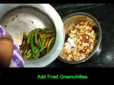 How to make Breakfast combination Groundnut Greenchilly chutny