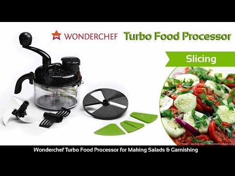 Wonderchef Turbo Food Processor for Making Salads & Garnishing