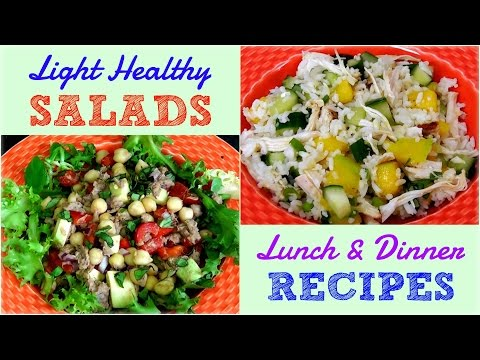 Light Healthy Salads for Lunch & Dinner (Weight Loss Recipes)