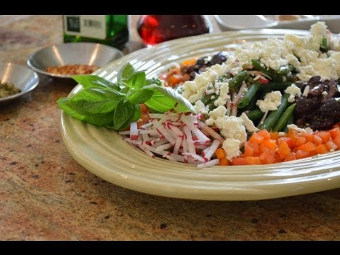 Making Unique Salads with Marc:  Part 2 -Greek Salad with Green Beans and Radishes
