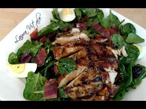 How to Make Spinach & Grilled Chicken Salad – by Laura Vitale – Laura in the Kitchen Ep 108