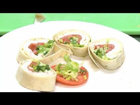 How to Make Sliced Sandwich Wraps : Chicken Salads & Sandwiches