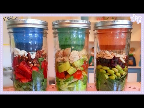 Healthy Salads in a Jar with only 5 Ingredients!